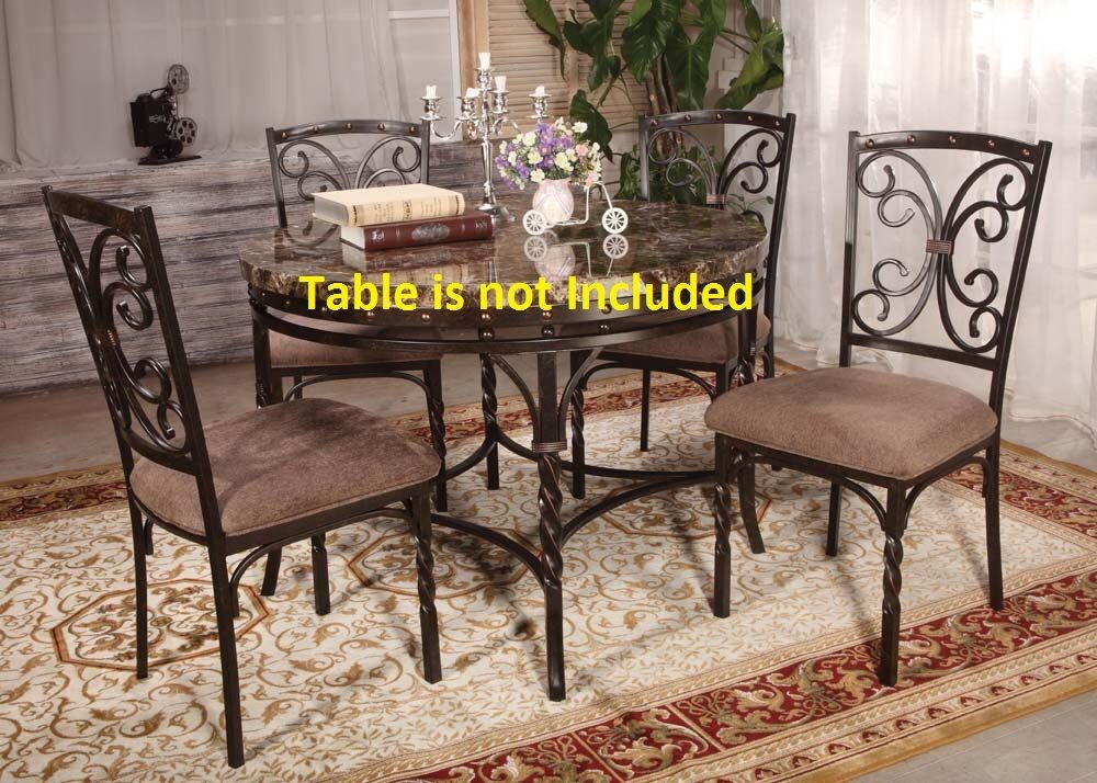 Kitchen Dining Room Modern Metal Framed Dining Chairs