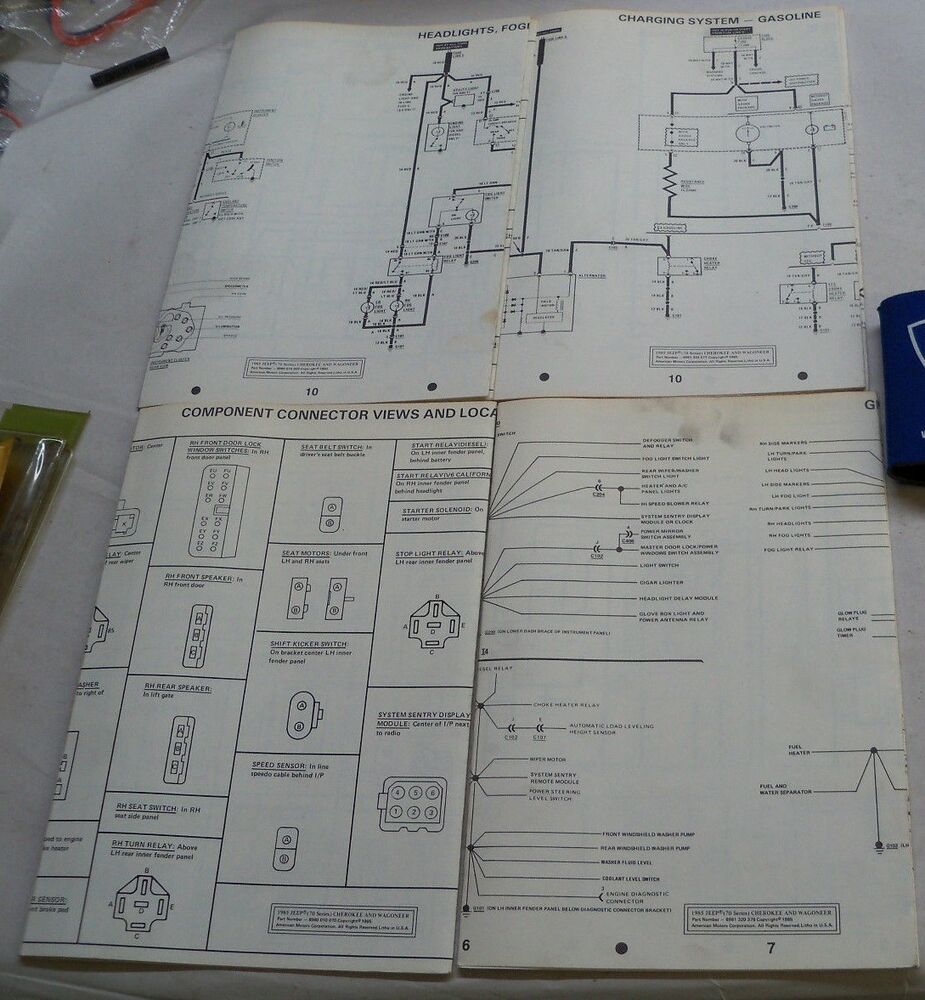hight resolution of details about 1985 jeep 70 series cherokee wagoneer electrical wiring diagrams
