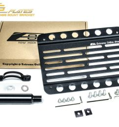 details about eos for 08 up scion xd front bumper tow hook license plate mount bracket [ 800 x 1000 Pixel ]