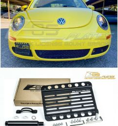 details about eos for 98 10 volkswagen beetle front bumper tow hook license plate bracket [ 800 x 1000 Pixel ]