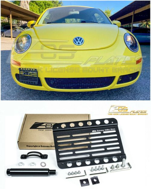 small resolution of details about eos for 98 10 volkswagen beetle front bumper tow hook license plate bracket