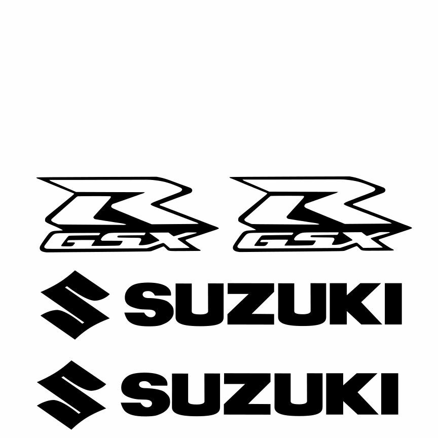 SUZUKI Decal WHITE Sticker Motorcycle GSX GSXR 1000 600