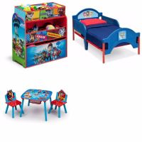 Toddler Bedroom Set Furniture Paw Patrol 3 Piece Bed Toy ...