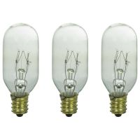 Three Bulbs 25T8 Clear 25 Watt 120 Volt E12 Candelabra ...