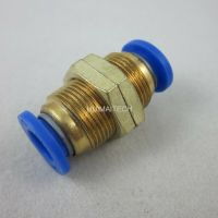 2pcs Pneumatic Bulkhead Connector 8mm M16 Push In Fittings
