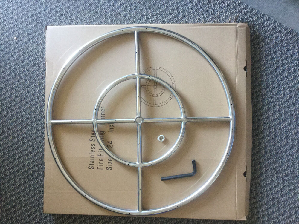 """24"""" Stainless Steel Fire Pit Ring,"""
