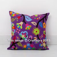 """20X20"""" Extra Large Pillow Cover Vintage Embroidered Decor ..."""