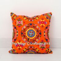 Suzani Embroidered Decor Throw Pillow Cushions Extra Large ...