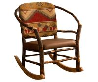 Amish Hickory Log Hoop Rocker Rocking Chair Rustic Cabin ...