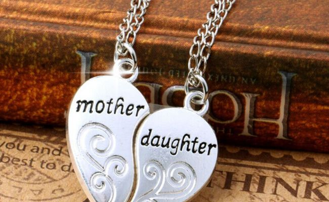 Stylish Charms Silver Mother And Daughter Love Mom