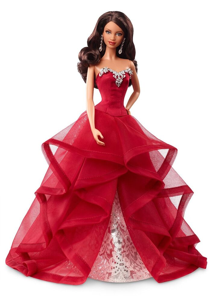 Barbie Collector Holiday Edition Brunette Christmas Collection Fancy 2015 Doll EBay
