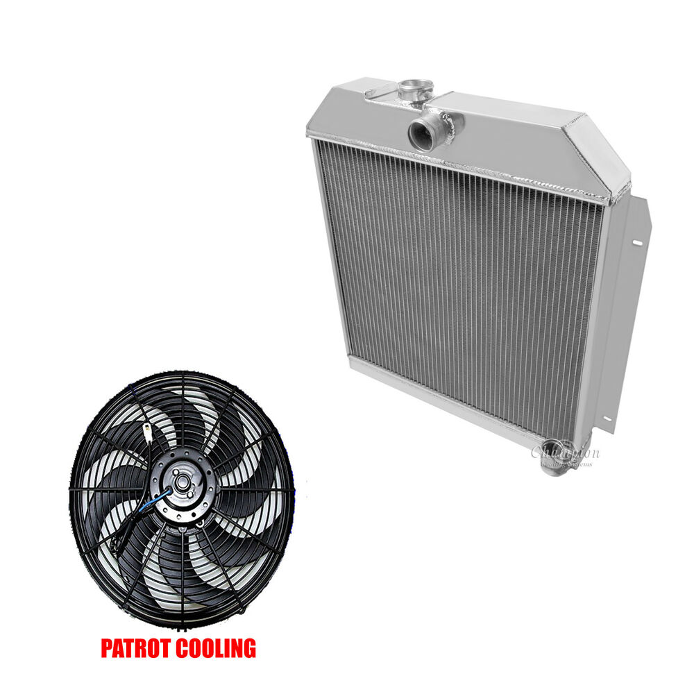 medium resolution of details about 1951 1952 plymouth cranbrook belvedere concord 3 row champion radiator 16 fan