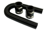 Universal 24 in. BLACK Stainless Steel Radiator Hose for