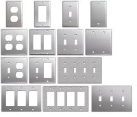 Brushed Satin Nickel Stainless Steel Wall Covers Switch