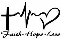 FAITH HOPE LOVE Vinyl Decal Sticker Car Window Wall Bumper