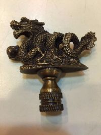 Antique Brass Dragon Finial Lamp Topper Part Decoration ...