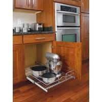 Pull-Out Wire Basket Base Cabinet Chrome, Kitchen Storage ...