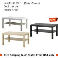 Side Coffee Table Black Brown Birch White Laptop TV Stand ...