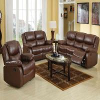 New 3pc Motion Sofa Set Living Room Brown Modern Couch ...