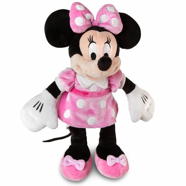 Disney Authentic Patch Pink Dress Minnie Mouse Polka Dot Plush Toy 14