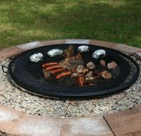 Fire Pit Cooking Grill Outdoor Firepit Round Mesh Grate ...