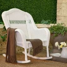 White Outdoor Resin Porch Patio Rocking Chair Furniture