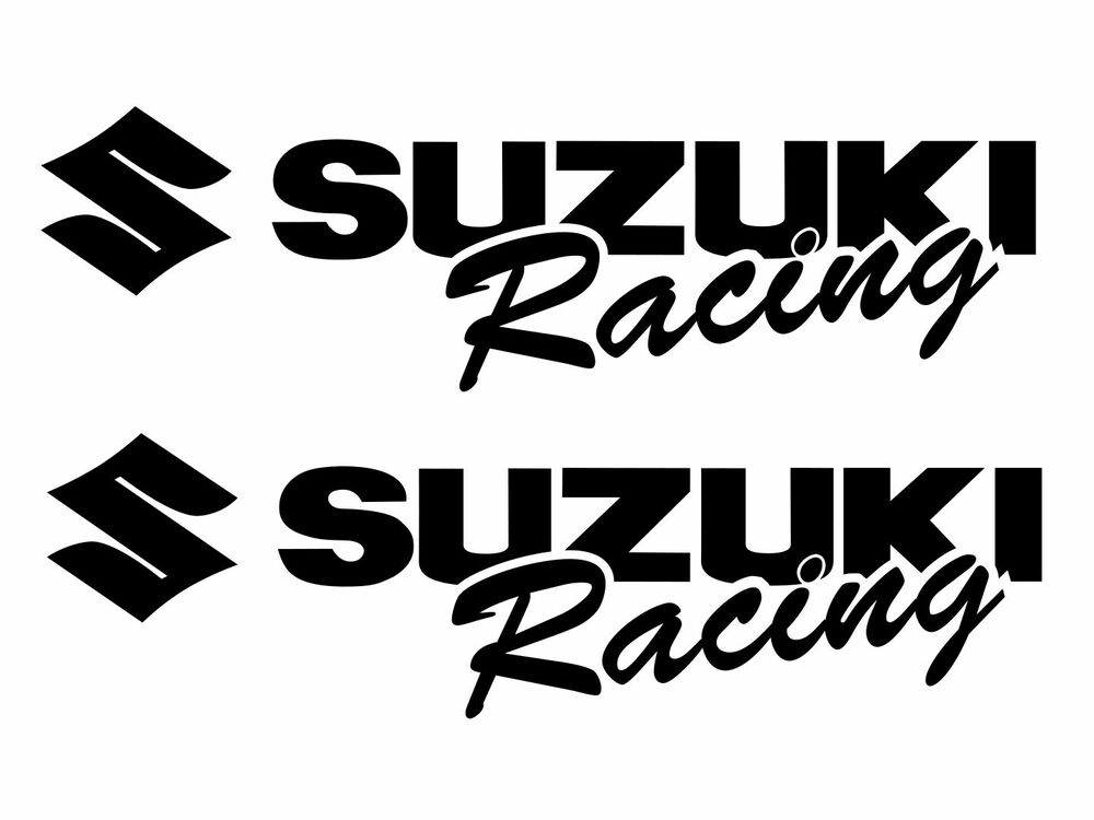 2 SUZUKI Racing Decal BLACK Sticker Moto gsx gsxr 1000 600
