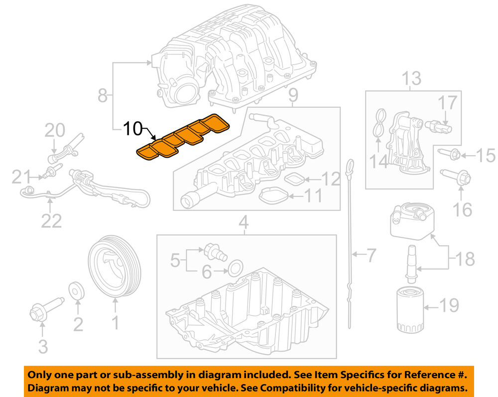 hight resolution of details about ford oem engine intake manifold gasket at4z 9h486 a factory sold individually