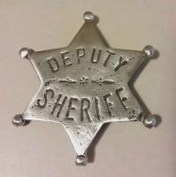 DEPUTY SHERIFF SIX POINT STAR BADGE BADGES OF THE OLD WEST ...