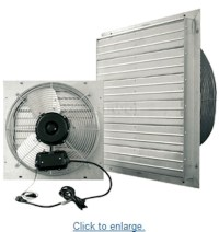 "Garage 24"" Industrial Exhaust Shutter Shop Air Fan Floor"