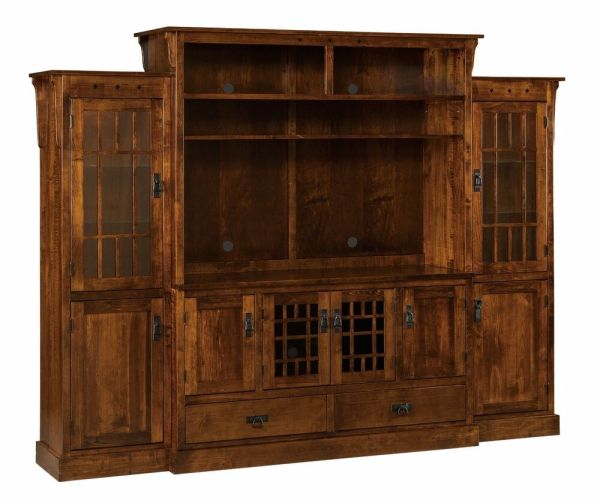 Solid Wood Entertainment Centers Wall Units