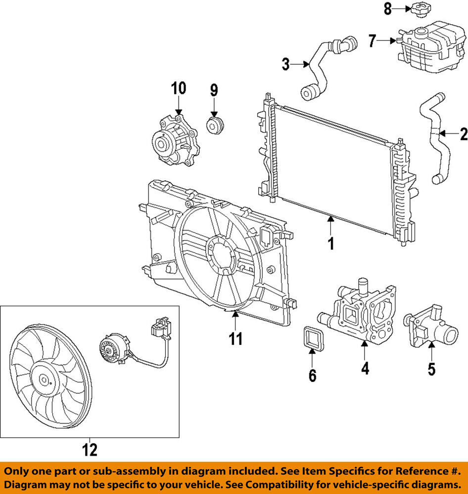 hight resolution of details about chevrolet gm oem 14 15 cruze 1 8l l4 engine coolant thermostat 55597008