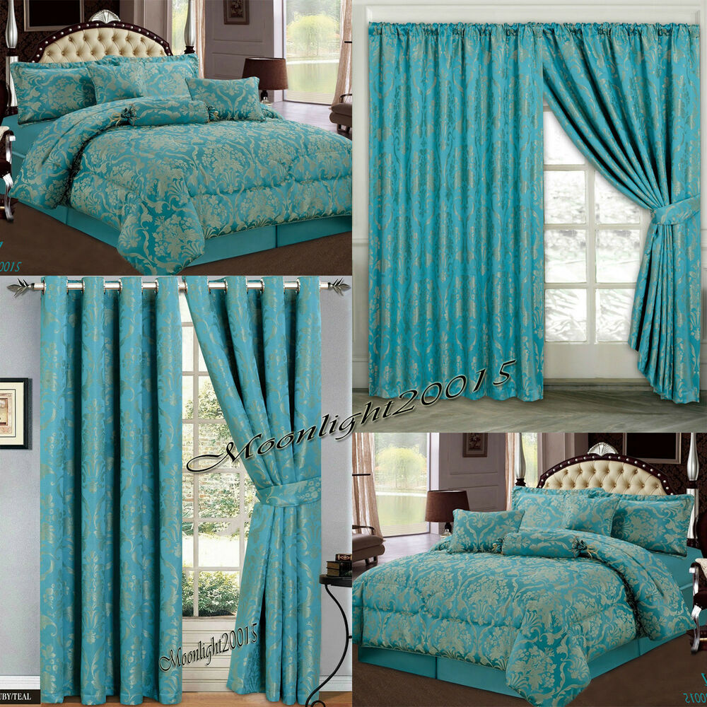 New Bedspread 7 Piece Comforter Set R Teal Bedding Set
