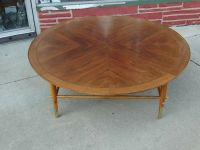 "Vintage Mid Century Modern Large 48"" Walnut Coffee table"