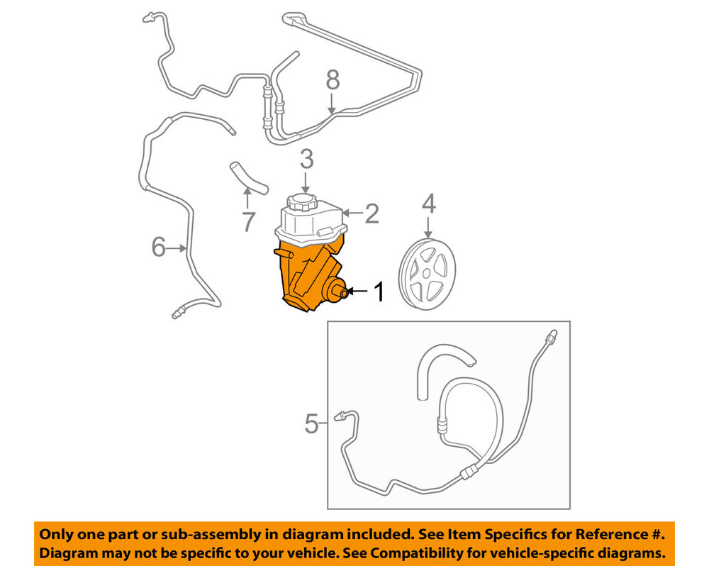 medium resolution of details about chevrolet gm oem 06 11 impala power steering pump 88964571