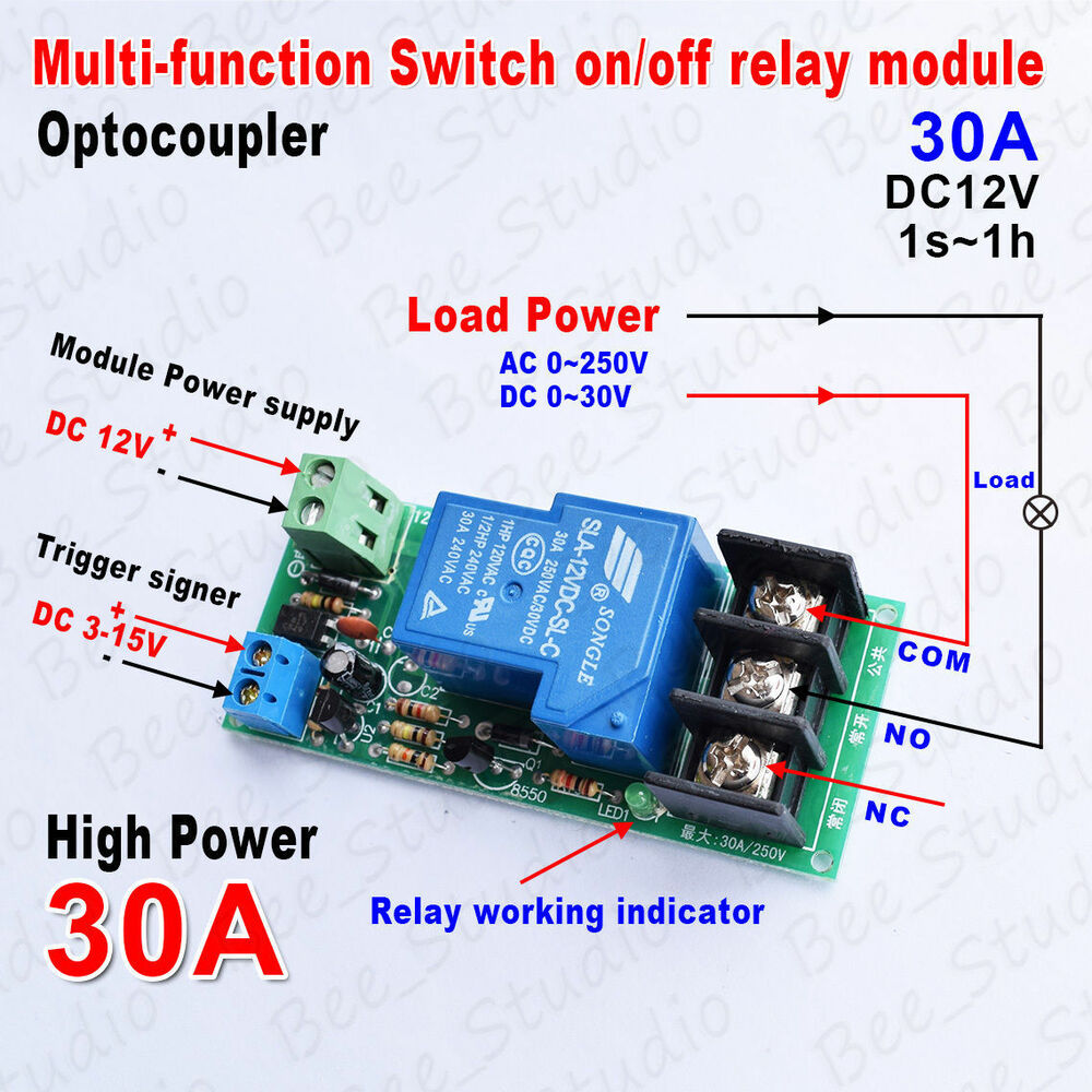 24 Volt Ac Home Wiring Dc12v Multifunction Delay Timing On Off Optocouple Relay
