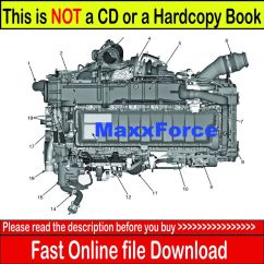 2006 International Dt466 Engine Diagram 1995 Chevy Blazer Maxxforce 11 & 13 Epa10 Service Manual Diagnostic Cd | Ebay