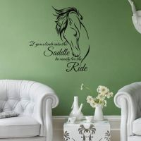 Horse Head Wall Decal Stickers Quote Saddle Ride Living ...