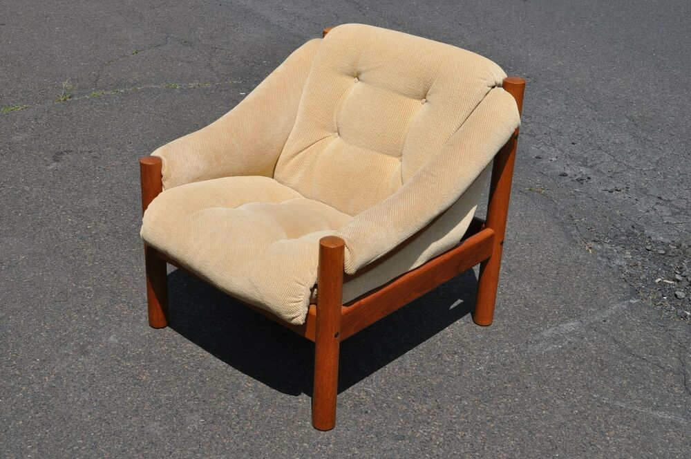 cane back dining chair swivel with ottoman ikea vintage danish modern domino mobler lounge | ebay