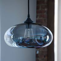 Vintage Clear Glass Ball Pendant Lamp Light Kitchen