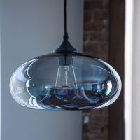 Vintage Clear Glass Ball Pendant Lamp Light Kitchen ...