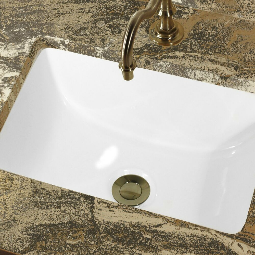 CERAMIC UNDERMOUNT BATHROOM SINK 16 x 11 Rectangle  eBay