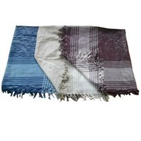 Large 90cm Square Cotton Silver Thread Scarf/Scarves 3 ...