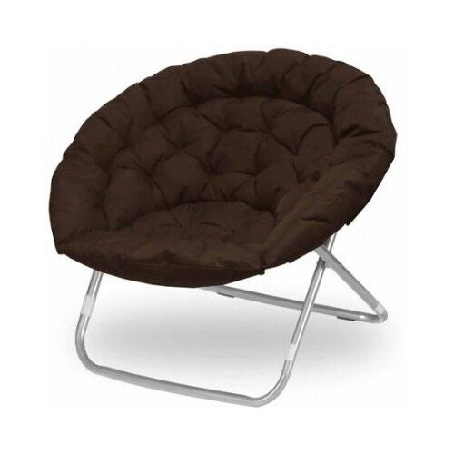 Oversized Oval Chair Living Room Dorm Furniture Brown Teen Bedroom Folding Moon  eBay