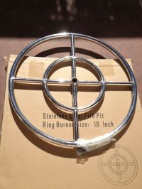 "18"" Stainless Steel Fire Pit Ring,"