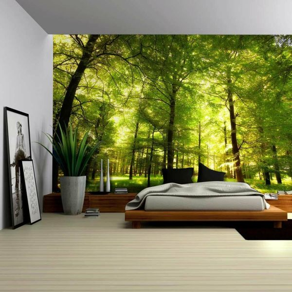 Crowded Forest Mural - Wall Removable Sticker Home