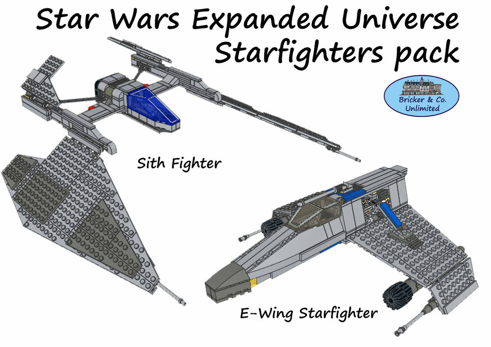 LEGO MOC Custom Star Wars Expanded Universe Starfighters