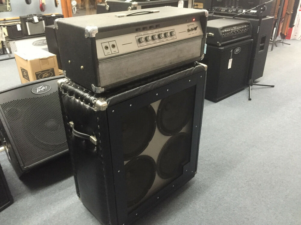 Ampeg Tube Guitar Amp Head V4 with Reverb and 412 Cabinet