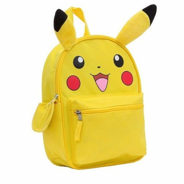"Pokemon Pikachu Large School Backpack 16"" Book Bag With"