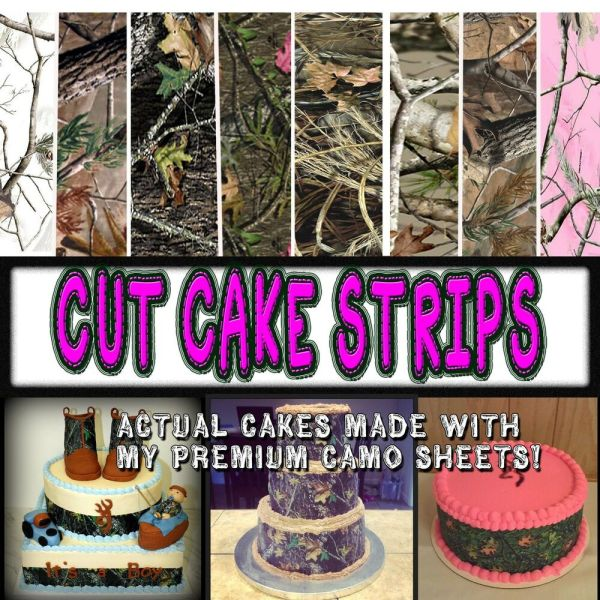 Cake Strips Edible Camouflage Sugar Camoflage Wraps Paper